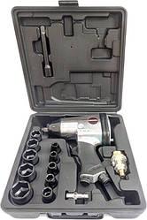 Пневмогайковерт пневматический 1/2 + набор головок 17шт AEROPRO RP7808