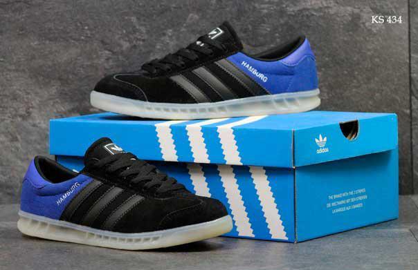 Кроссовки Adidas Hamburg (сине/черные)