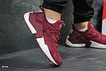 Кроссовки Nike Huarache (бордовые), фото 2