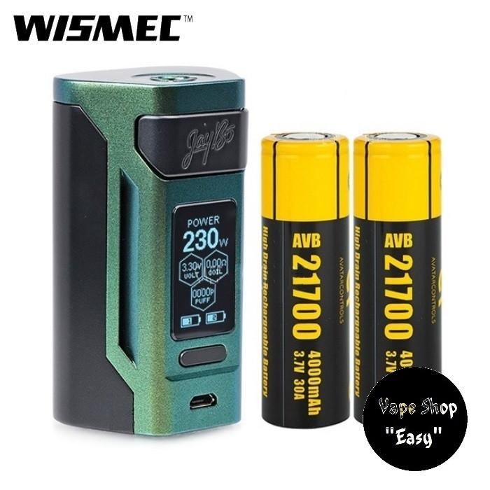 Бокс мод WISMEC Reuleaux RX2 230W  21700 TC MOD 8000mAh Gradient Green (Аккумуляторы в комплекте; Оригинал).
