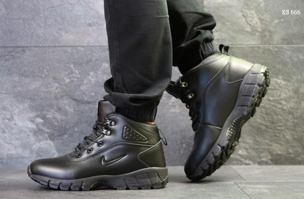 Ботинки Nike Lunarridge (черные) ЗИМА