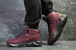 Зимние ботинки Nike Huarache (бордовые) ЗИМА, фото 3