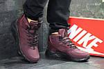Зимние ботинки Nike Huarache (бордовые) ЗИМА, фото 4