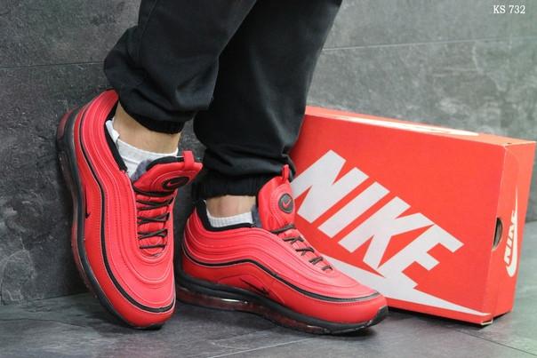 Зимние кроссовки Nike 97 (красные)
