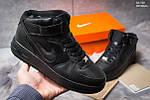 Мужские кроссовки Nike Air Force High (черные), фото 5