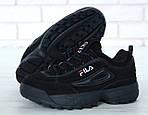 Зимние кроссовки FILA Disruptor 2 (черные), фото 6