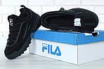 Зимние кроссовки FILA Disruptor 2 (черные), фото 7