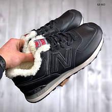 Зимние ботинки New Balance 574 (черные)