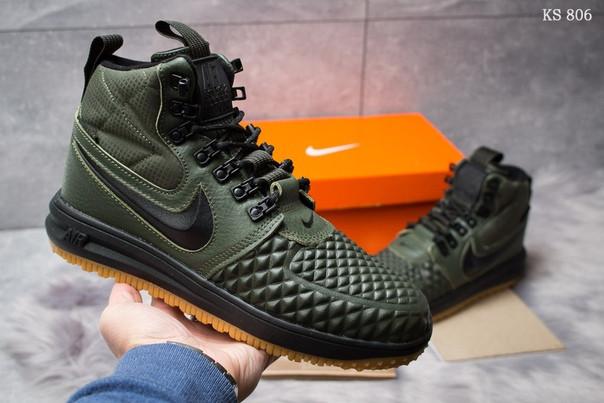 Зимние ботинки Nike LF1 Duckboot (зеленые)