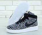 Мужские кроссовки Nike Air Force (Черно-белые) , фото 4