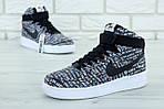 Мужские кроссовки Nike Air Force (Черно-белые) , фото 5
