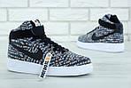 Мужские кроссовки Nike Air Force (Черно-белые) , фото 6