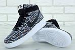 Мужские кроссовки Nike Air Force (Черно-белые) , фото 7