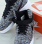 Мужские кроссовки Nike Air Force (Черно-белые) , фото 9