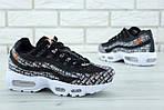 Мужские кроссовки Nike Air Max 95 (черно-белые), фото 2