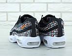 Мужские кроссовки Nike Air Max 95 (черно-белые), фото 6