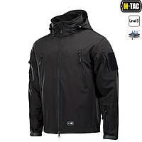M-Tac куртка Soft Shell с подстежкой Black+ПОДАРОК