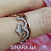 Кольцо Корона серебро с позолотой, фото 8