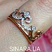 Кольцо Корона серебро с позолотой, фото 3