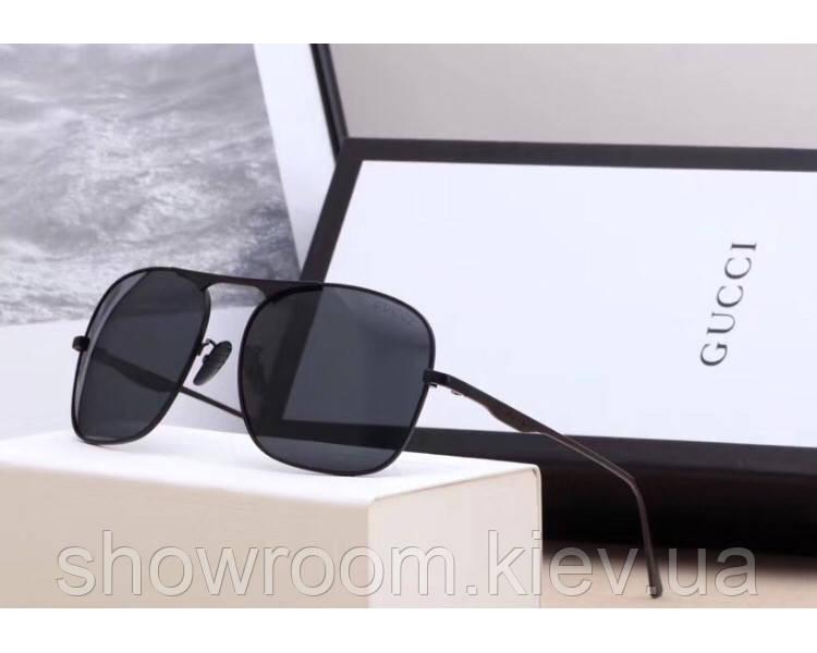 Мужские солнцезащитные очки в стиле Gucci (0106) black