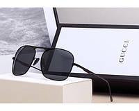 Мужские солнцезащитные очки в стиле Gucci (0106) black, фото 1
