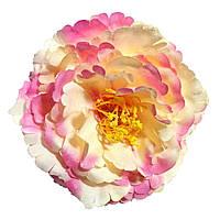 Головка пиона раскрытого  розово-кремовый 12см.