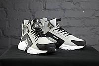 Зимние кроссовки Nike Huarache Winter Acronym (Серые)