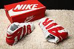 Мужские кроссовки Nike Air More Uptempo (бело-красные), фото 7