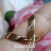 Кольцо серебро с позолотой и черными фианитами, фото 3