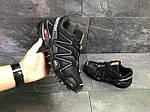Мужские кроссовки Salomon Speedcross 3 (черно-серые) весна-осень, фото 2