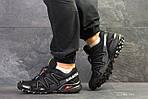 Мужские кроссовки Salomon Speedcross 3 (черно-серые) весна-осень, фото 3