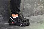 Мужские кроссовки Salomon Speedcross 3 (черно-серые) весна-осень, фото 5