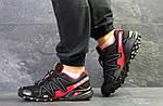 Мужские кроссовки Salomon Speedcross 3 (Черно-красные) весна-осень, фото 2