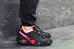 Мужские кроссовки Salomon Speedcross 3 (Черно-красные) весна-осень, фото 3