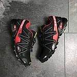Мужские кроссовки Salomon Speedcross 3 (Черно-красные) весна-осень, фото 5