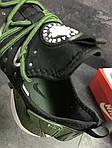 Мужские кроссовки Nike Air Huarache (Черно-зеленые) , фото 2