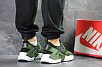 Мужские кроссовки Nike Air Huarache (Черно-зеленые) , фото 3