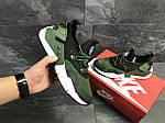 Мужские кроссовки Nike Air Huarache (Черно-зеленые) , фото 5