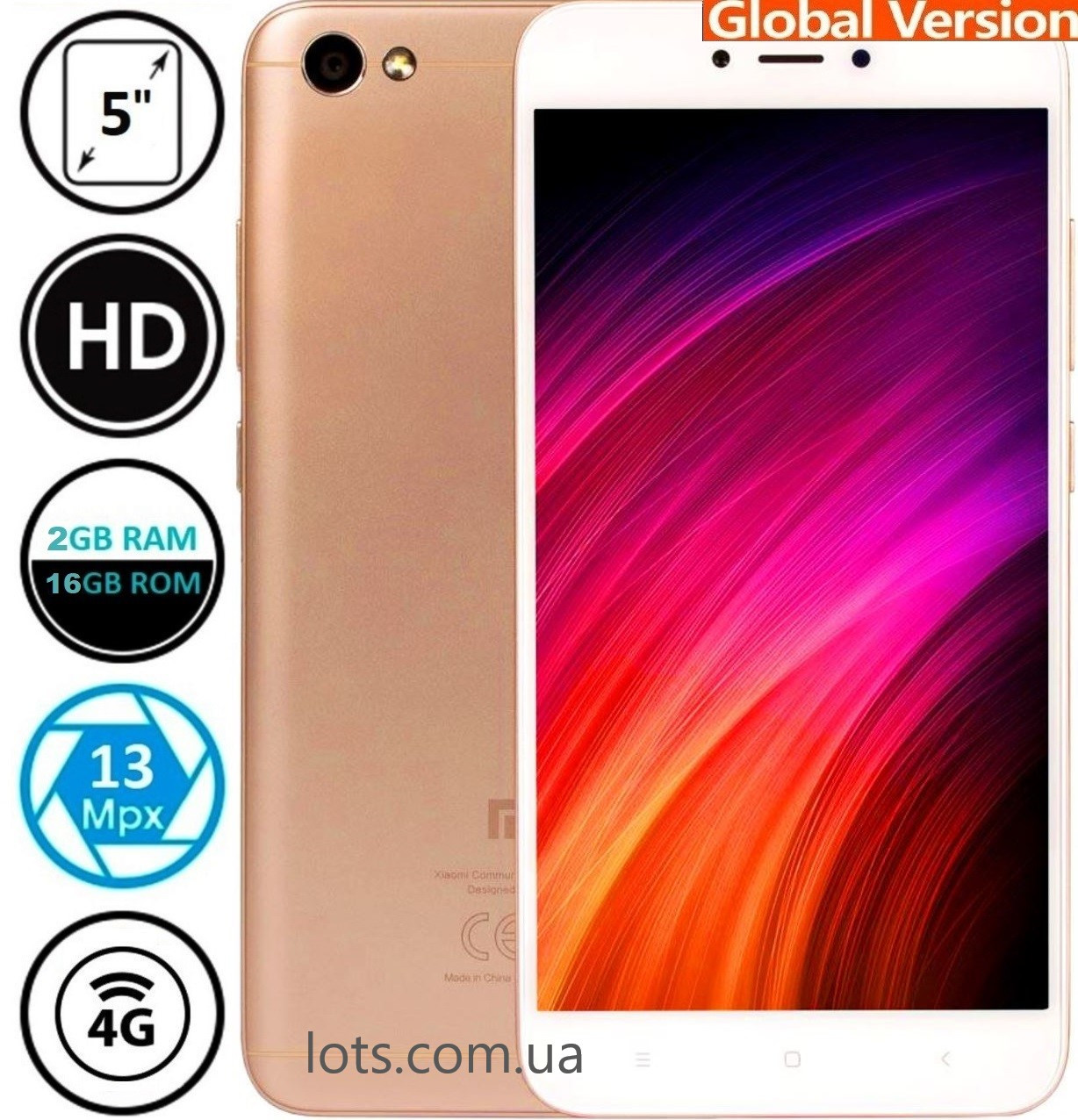 Смартфон Xiaomi Redmi 4A 2/16Gb Gold 4G
