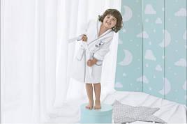 Детский махровый халат Енот