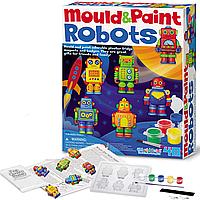 Набор фигурок-раскрасок из гипса 4M Роботы (00-04653)