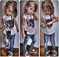 Детский комплект джинсы и майка