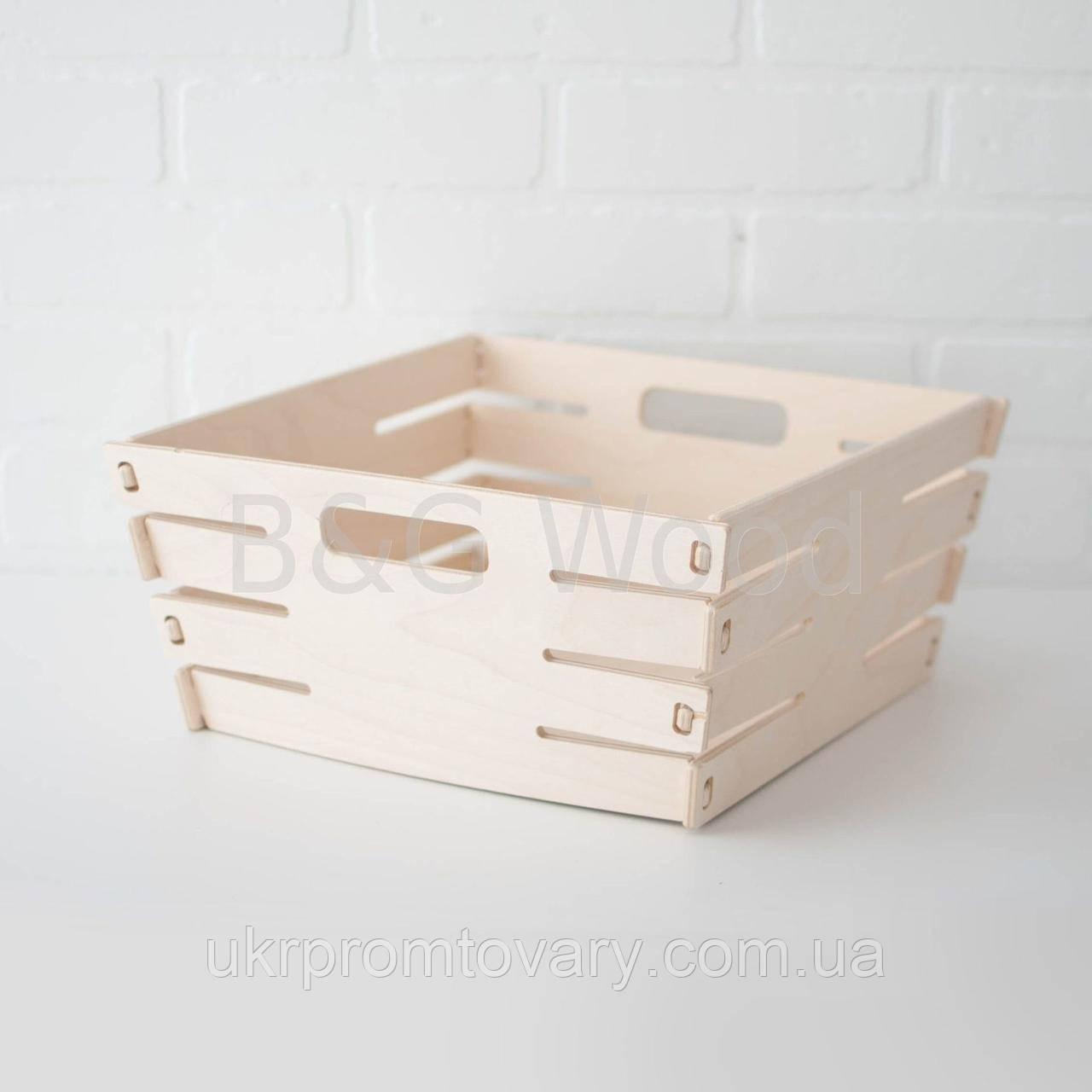 Корзина для белья малая, мебель SPORTMORE, натуральное дерево, фанера от производителя