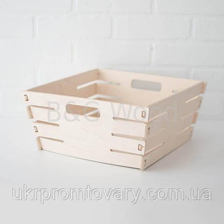 Корзина для белья малая, мебель SPORTMORE, натуральное дерево, фанера от производителя, фото 2
