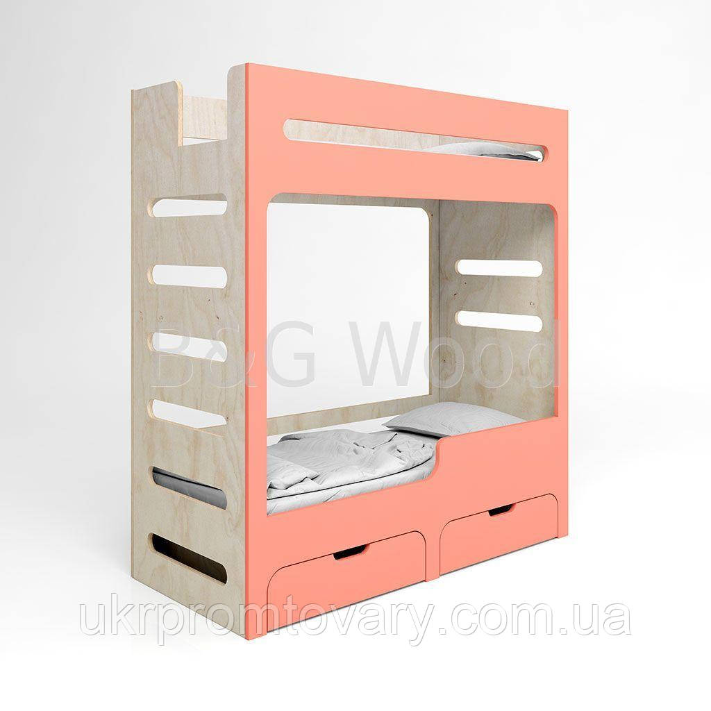 Ліжко двоярусне Move E#0, меблі SPORTMORE, натуральне дерево, фанера від виробника