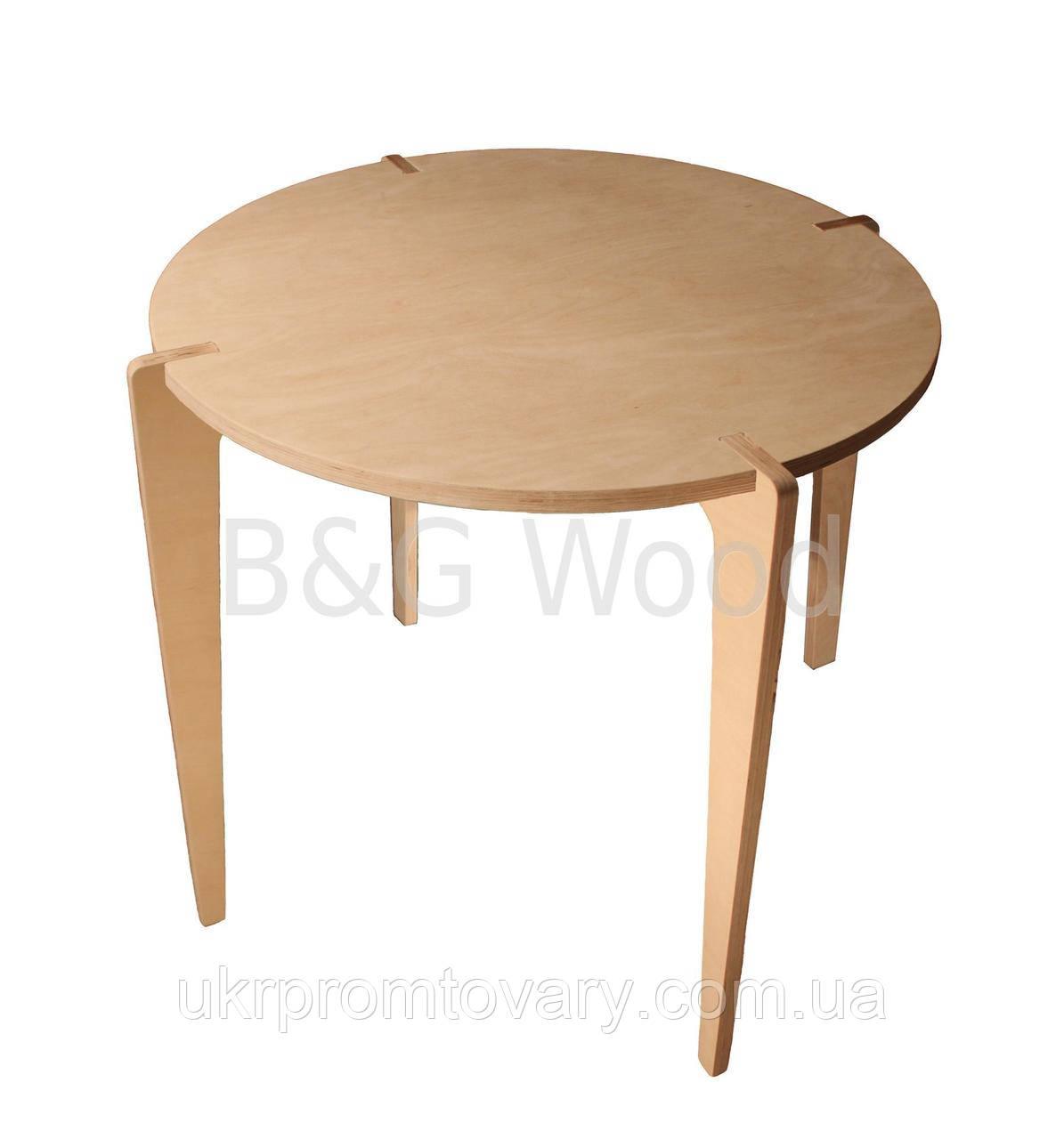 Круглий обідній стіл Bob, меблі SPORTMORE, натуральне дерево, фанера від виробника