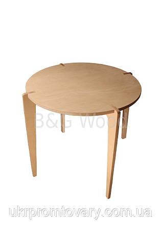 Круглий обідній стіл Bob, меблі SPORTMORE, натуральне дерево, фанера від виробника, фото 2