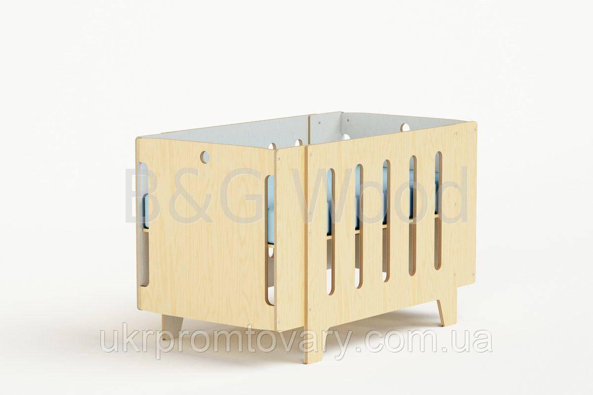 Манеж-кровать Playpen, мебель SPORTMORE, натуральное дерево, фанера от производителя