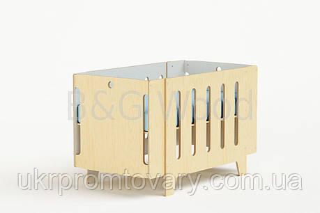 Манеж-кровать Playpen, мебель SPORTMORE, натуральное дерево, фанера от производителя, фото 2