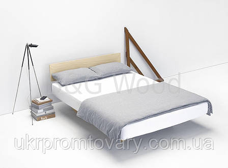 Парящая кровать Dinolectus 160х200, мебель SPORTMORE, натуральное дерево, фанера от производителя, фото 2